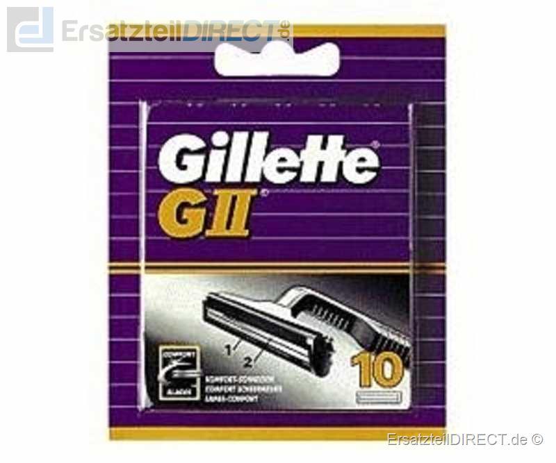 Gillette Ersatzklingen G II (GII / G2) / 10er-Pack