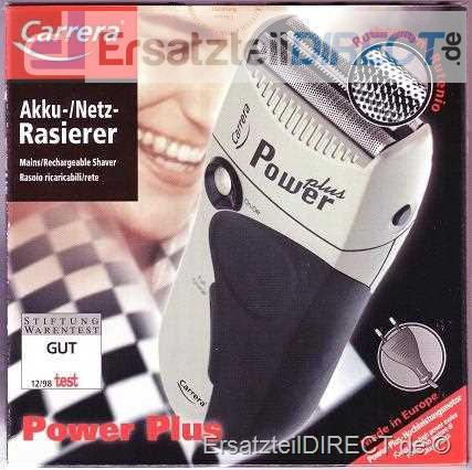 Carrera Rasierer Power Plus 2428.1PP Akku/Netz #