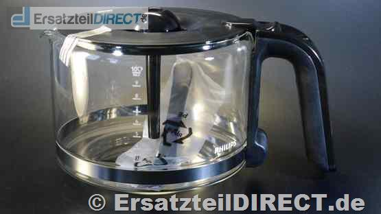 Philips Kaffeemaschinen Glaskanne zu HD7761 HD7762