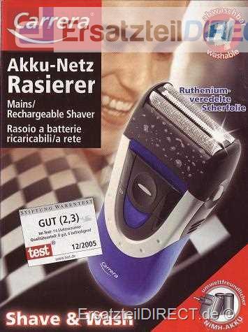 Carrera Rasierer 2613.1 Akku/Netz (Farbe: Schwarz)