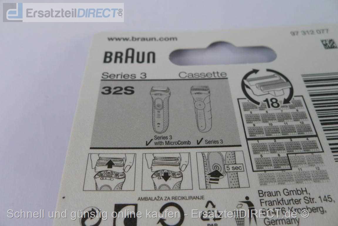 Kombipack Scherfolie Klingen für Braun Series 3 Type 5415 5416 5772 5773 5774