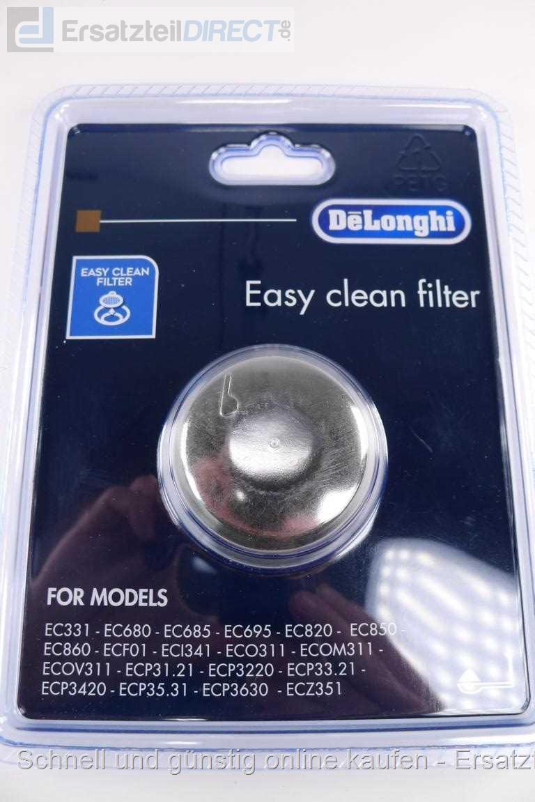 ECOV311 1 Tasse für ECOM311 ECP31.21 ECP3220, DeLonghi 5513280991 Filter