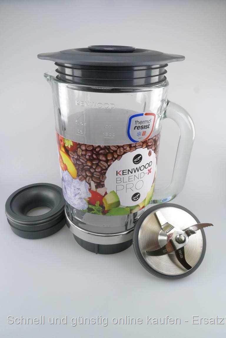 kenwood mixer glas mixglas komplett blm800wh blm80 kw716196 billig kaufen. Black Bedroom Furniture Sets. Home Design Ideas