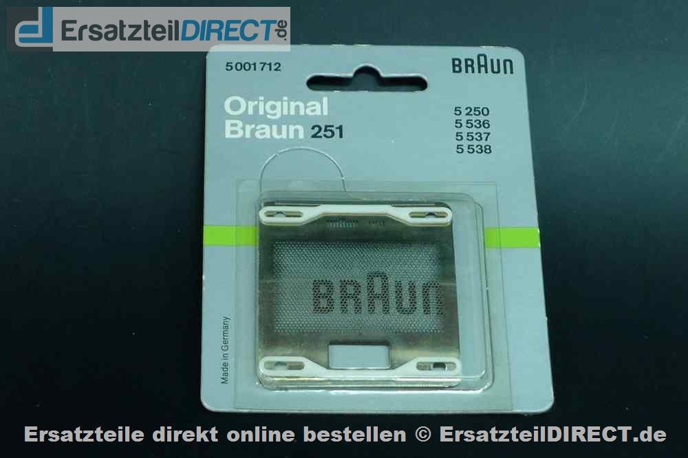 Braun Rasierer Scherblatt SB251 Scherfolie Typ 251 SB251