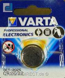 Varta Knopfzelle Lithium (3Volt) CR2032 Batterie