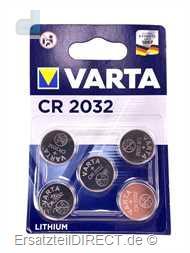 Varta Knopfzelle 5x Lithium CR2032 Batterie 3 Volt
