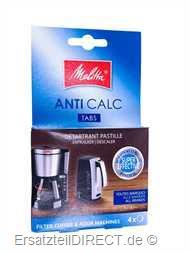 Melitta Kaffeemaschinen Anti-Kalk Tabs 4x 12gr