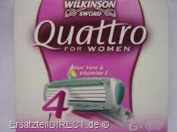 Wilkinson Ersatzklingen Quattro for Woman 4 / 6er