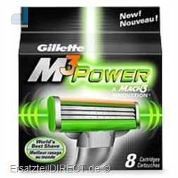 Gillette Ersatzklingen M3 Power Systemkl. 8er-Pack
