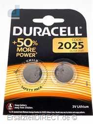 Duracell Lithium Knopfzelle 3Volt (2x) CR2025