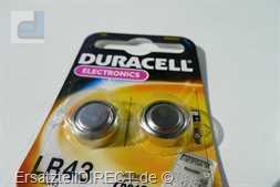 Duracell Knopfzelle LR43 B1 (2er-Pack) 186 KA43