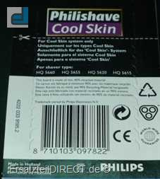 Philips Scherkopf HQ 156 Philishave CoolSkin