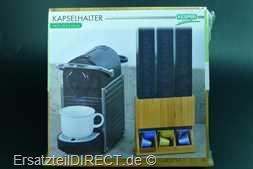 Bambus Kapselhalter für 3 Packungen Kaffeekapseln