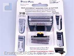 Shaver-Parts Rasierer Scherfolie + Klinge 31B 6000