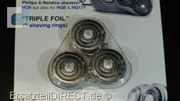 Shaver-Parts 3er Universalscherköpfe Triple Typ6
