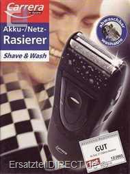 Carrera Rasierer 2313.1 Akku/Netz (Sondermodell du