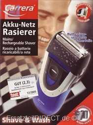 Carrera Rasierer 2513.1 Akku/Netz Farbe: Anthrazit