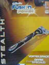 Gillette Fusion Power Stealth Naßrasierer +GEL