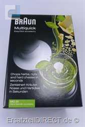 Braun Zerkleiner MQ20 komplett 4191 4192 4130 4165