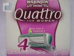 Wilkinson Ersatzklingen Quattro for Woman 4 / 6er