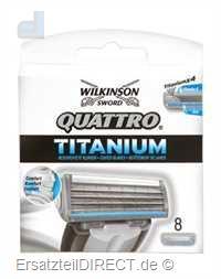 Wilkinson Ersatzklingen Quattro Titanium /8er-Pack