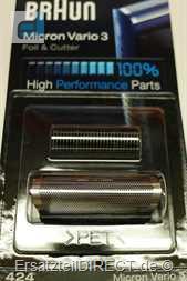 Braun Kombipack 424 (Folie +Klinge) Micron Vario 3