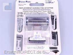 Shaver-Parts Rasierer Scherfolie + Klinge 31S 5000
