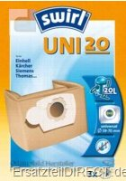 Swirl Staubsaugerbeutel UNI20 (UNI 20)