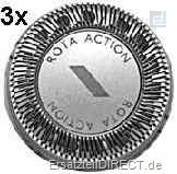 Philips Scherkopf 3er-SET HQ2 (HP1917) RotaAction#