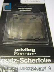 Privileg Scherblatt /Scherfolie /2-ER für Senator#