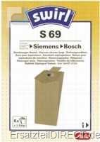 Swirl Staubsaugerbeutel S69 Siemens Bosch Privileg